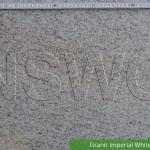 Granit Imperial White poliert